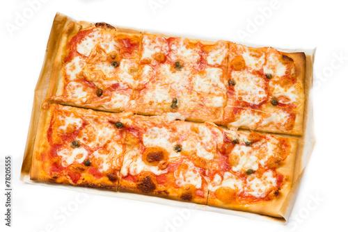 Spoed Foto op Canvas Pizzeria Homemade Margherita Pizza, Italian Food