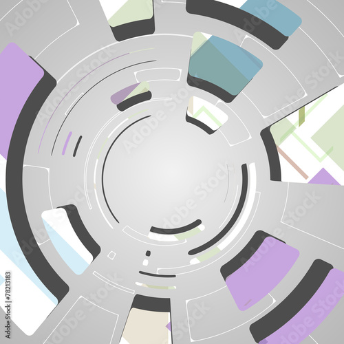 Naklejka dekoracyjna Abstract technology background