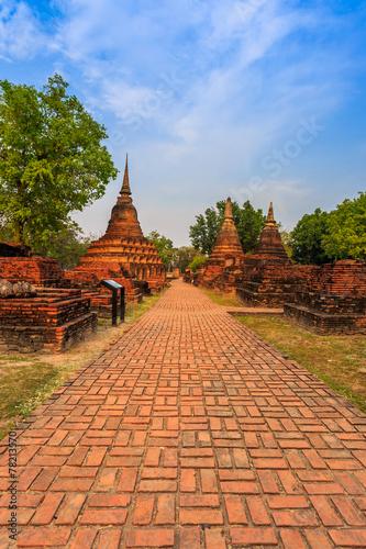 Fototapeta sukhothai historical park the old town of thailand