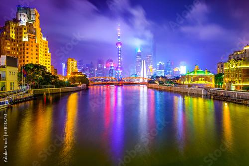 Photo Stands Shanghai, China City Skyline