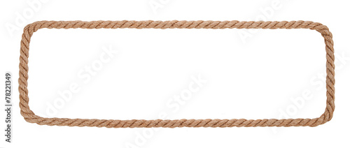 Obraz Rope border isolated on white background - fototapety do salonu