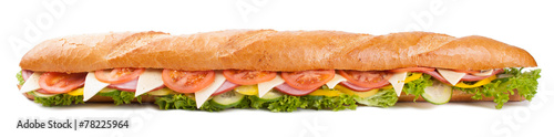 Staande foto Snack Big french sandwich