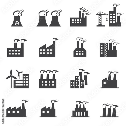 Industrial building icon Wall mural