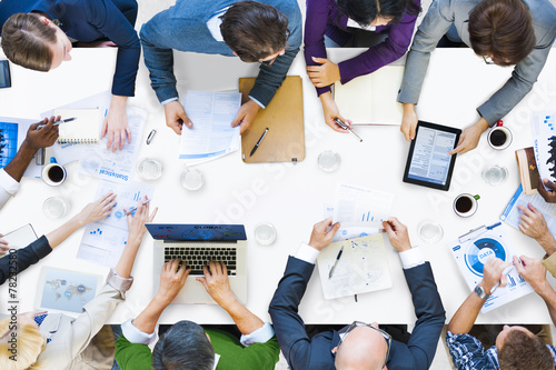 Fotografía  Diverse Business Corporate People Meeting Brainstorming Concept