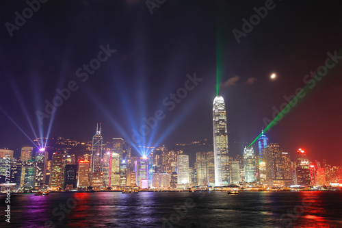 Keuken foto achterwand Hong-Kong Hong Kong night view