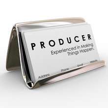 Producer Business Cards Experi...