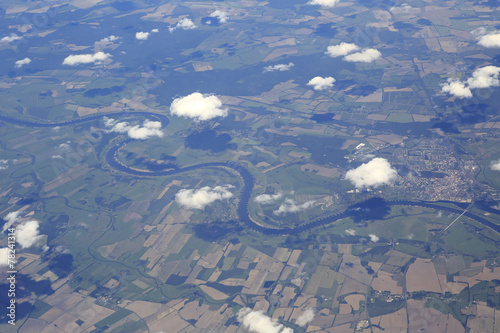 Photo  Netherlands from the plane.