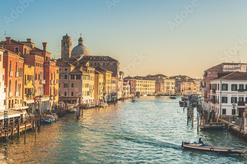 Fototapety, obrazy: Life on the Grand Canal in Venice, Italy