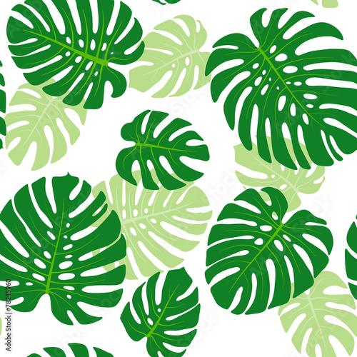 Materiał do szycia Wzór z tropikalny liści monstera
