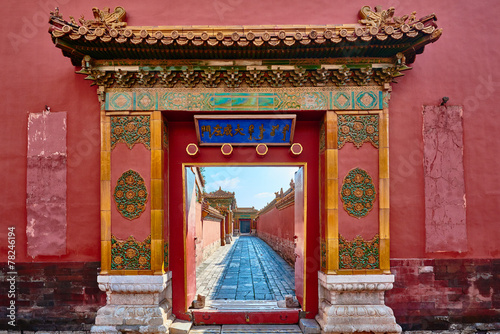 Tuinposter Peking Forbidden City imperial palace Beijing China