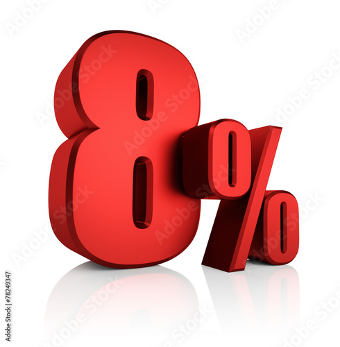 Red 8 Percent Wall mural