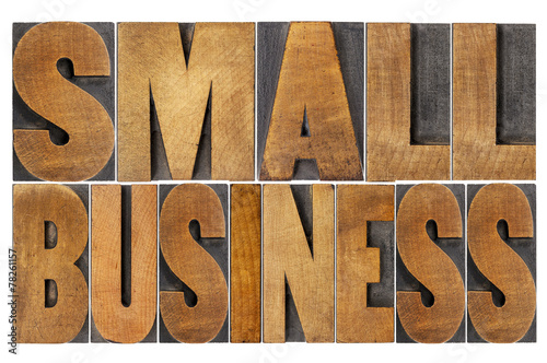 Photo  small business in wood type