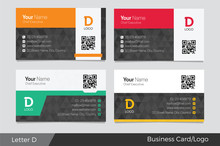 Letter D Logo Corporate Business Card