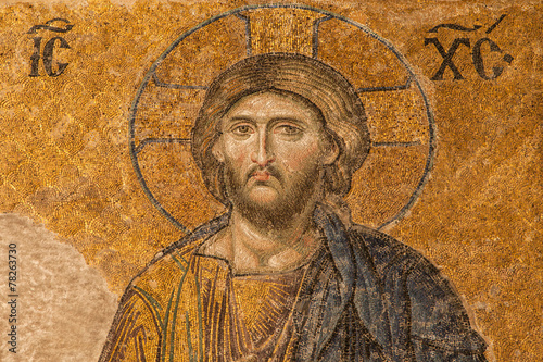 Foto op Plexiglas Wand Jesus Christ mosaic