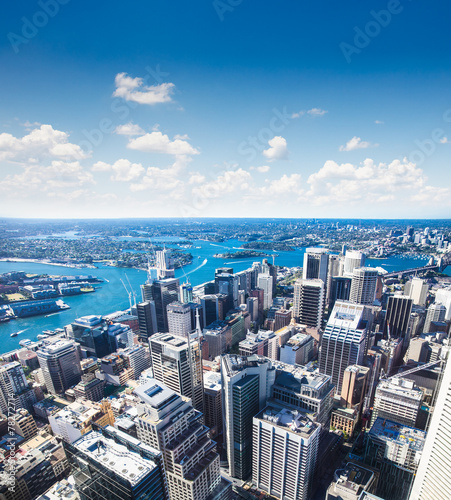 Staande foto Sydney View of downtown towards Sydney Tower, Australia.