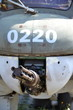 Machine gun on an old military airplane