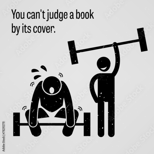 You Cannot Judge A Book By Its Cover Kaufen Sie Diese