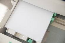 Printer Tray With Paper Top Vew