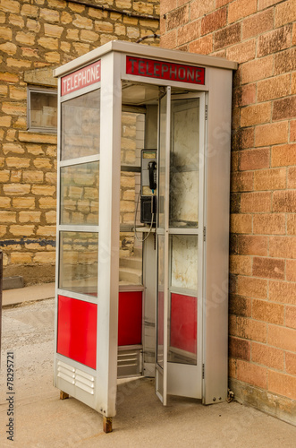 Fototapeta  Red and White Phone Booth