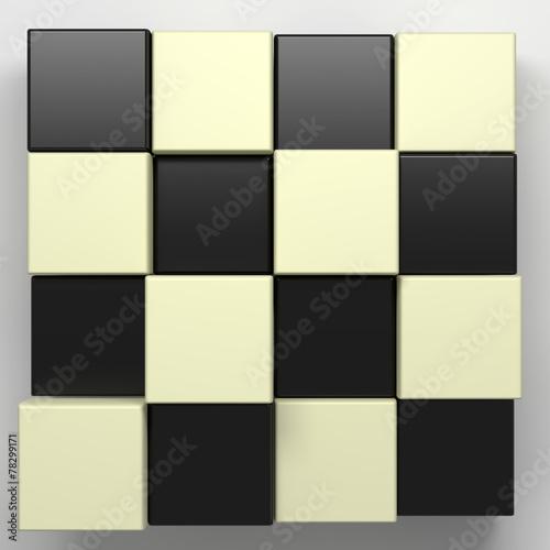 czarno-białe kostki