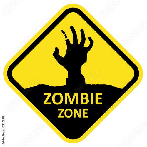 Photo  Vector sign zombie zone.