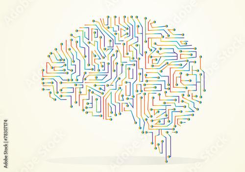 Leinwand Poster Regenbogen Gehirn