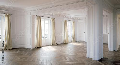 Obraz Barock Altbauwohnung leer in Berlin - fototapety do salonu