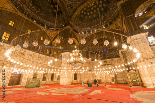 Inside of the mosque of Muhammad Ali, Saladin Citadel of Cairo