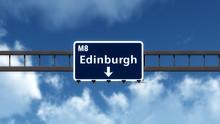 Edinburgh United Kingdom Highway Road Sign