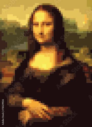 Photo Mona Lisa squares