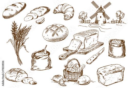 Fotografie, Obraz  Bread set