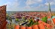 Leinwanddruck Bild - Lüneburg Panorama