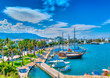 canvas print picture The main port of Kos island in Greece. HDR processed