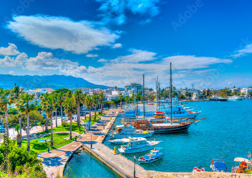 canvas print motiv - imagIN photography : The main port of Kos island in Greece. HDR processed