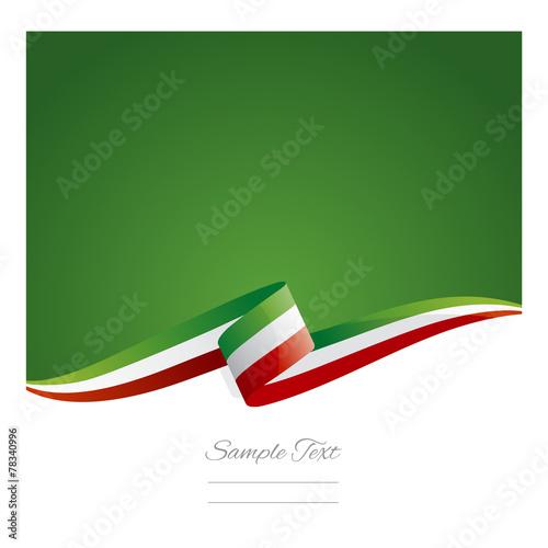 Fotografie, Obraz  New abstract Mexico flag ribbon