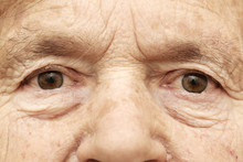 Close Up Of Senior Woman's Fac...