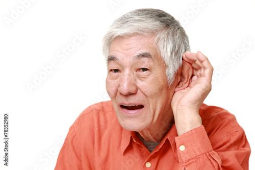 Fotografie, Obraz  難聴の高齢者