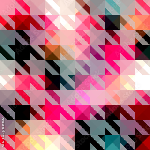 Photo  Houndstooth pattern on abstract geometric background.