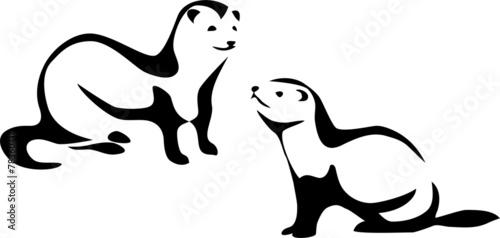 Photo  stylized ferret