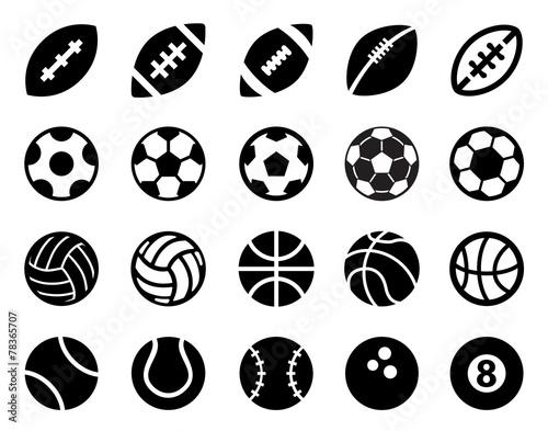 Obraz na płótnie Piłki sportowe