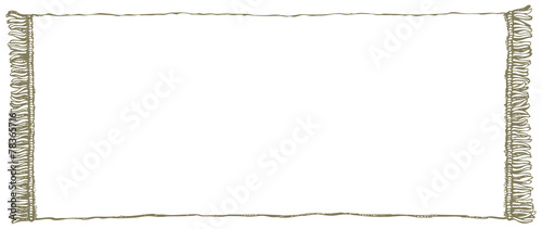 Fotografie, Obraz  Vector frame. Towel with fringe