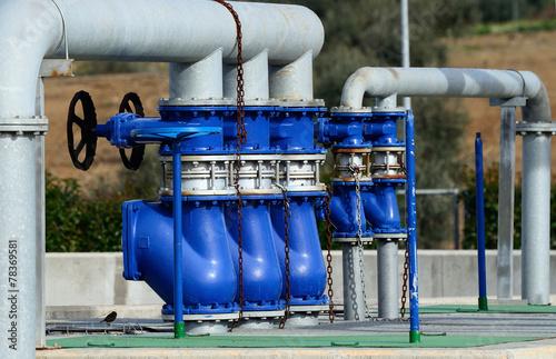 Fotografía  water treatment plant - closeup