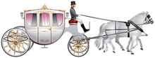 Carriage, Horse-drawn White We...