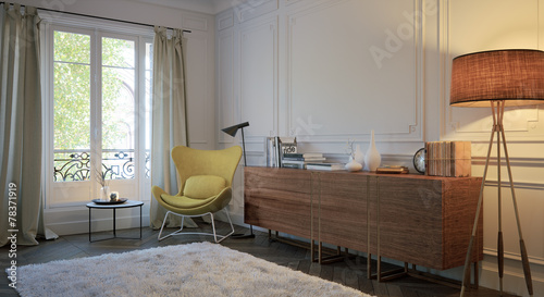 Sideboard Mit Lese Ecke In Altem Barock Zimmer Buy This Stock