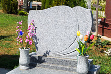 Tombstone In The Cemetery