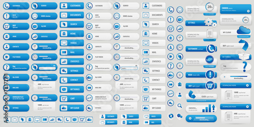 Fotografía  blue BIG BUTTONS SET
