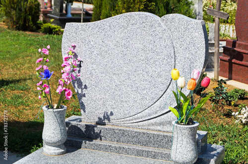 Photo sur Toile Cimetiere Tombstone in the cemetery