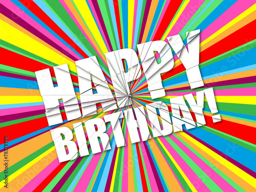 "Photo  ""HAPPY BIRTHDAY"" Card (message congratulations party)"