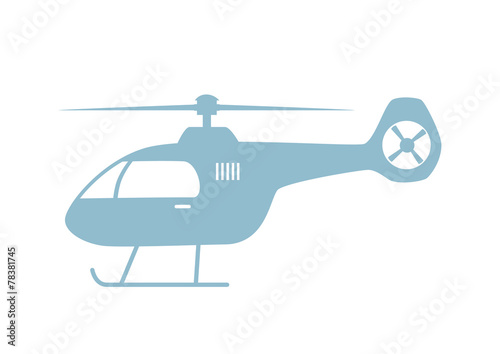 Cuadros en Lienzo Helicopter vector icon on white background