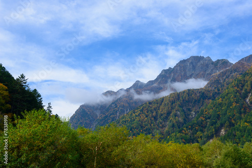 Foto op Aluminium Algerije Hotaka mountains in Autumn in the Northern Japan Alps